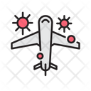 Covid Plane Virus Icon