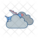 Plane Cloud Icon