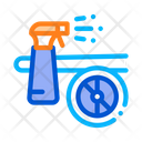 Plane Spray Wash Icon