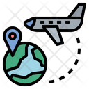 Aircraft Fly Globalization Icon