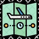 Route Plane Destination Icon