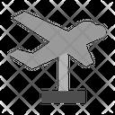 Plane Statue Icon