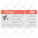 Plane Ticket Trip Icon