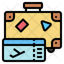 Ticket Travel Bag Vacation Icon