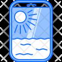 Sun Cloud Airplane Icon