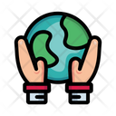 Planet Earth Hands Icon