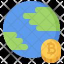 Planet Bitcoin Coin Icon