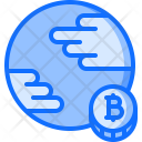 Planet Bitcoin Coin Icon