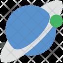 Planet Globe Ground Icon