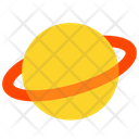 Planet Saturn Space Icon
