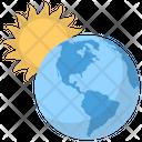 Earth Sun World Planet Icon