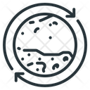 Planet Orbit Rotation Icon