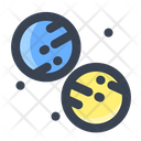 Planet Collision Icon