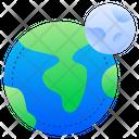 Planet Earth Moon Earth Icon