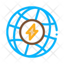 Planet Energy Electricity Icon