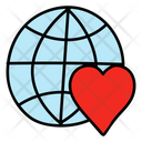Planet Love Global Love Earth Love Icon
