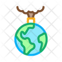 Planet Pollution Electricity Icon