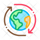 Planet Rotation Climate Icon