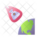 Earth Landing Space Capsule Icon