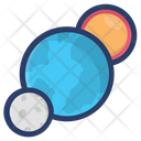 Planetary System Planets Space Icon