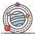 Planetary System Orbit Planet Icon
