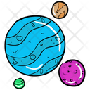 Planets Planetary System Spheres Icon