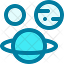 Planets Astronomy Space Icon