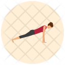 Plank Yoga Pose Icon