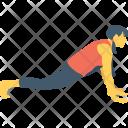 Plank Pose Arm Icon