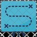 Planning Path Process Icon