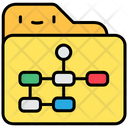 Planning Flow Chart Management Icon