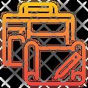 Portfolio Pen Bag Icon