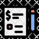 Finance Document Commerce Icon