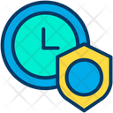 Time Management Secure Time Management Shield Time Icon