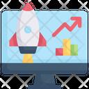 Internet Marketing Progress Growth Icon