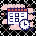 Planning Calendar Clock Icon