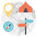 Planning Camping Trip Icon