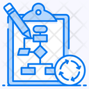 Planning Process Data Flow Algorithm Icon