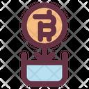 Bitcoin Investation Plant Icon