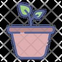 Leaf Grow Pot Icon