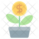 Money Plant Bank Icon