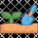 Plant Shovel Botanical Icon
