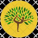 Yoga Poses Plant Icon