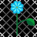 Blue Leaf Plant Icon