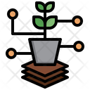 Plant Analysis Crop Analytics Agriculture Icon