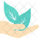 Plant Care Hand Gesture Leaf Icon