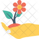 Plant Care Hand Icon