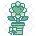 Plant Love Flower Heart Icon