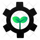 Gear Leaf Ecology Icon