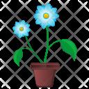 Blue Leaf Pot Icon
